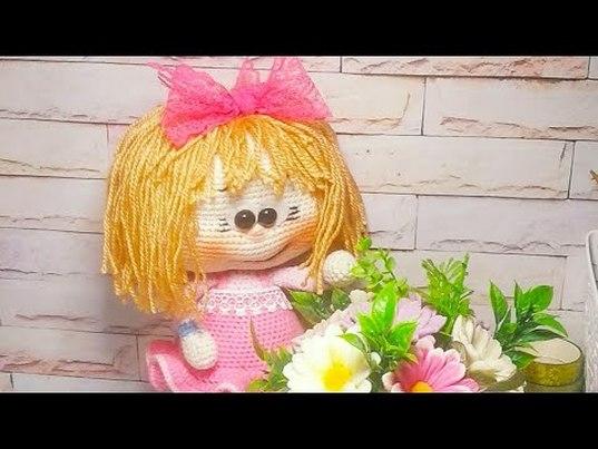 Кукла крючком,  вязаная кукла, амигуруми, мастер класс по вязанию куклы Бонни, видео урок по вязанию игрушки , фото, картинка, мастер-класс, мк, схема, описание, крючком, амигуруми, игрушка, фотография