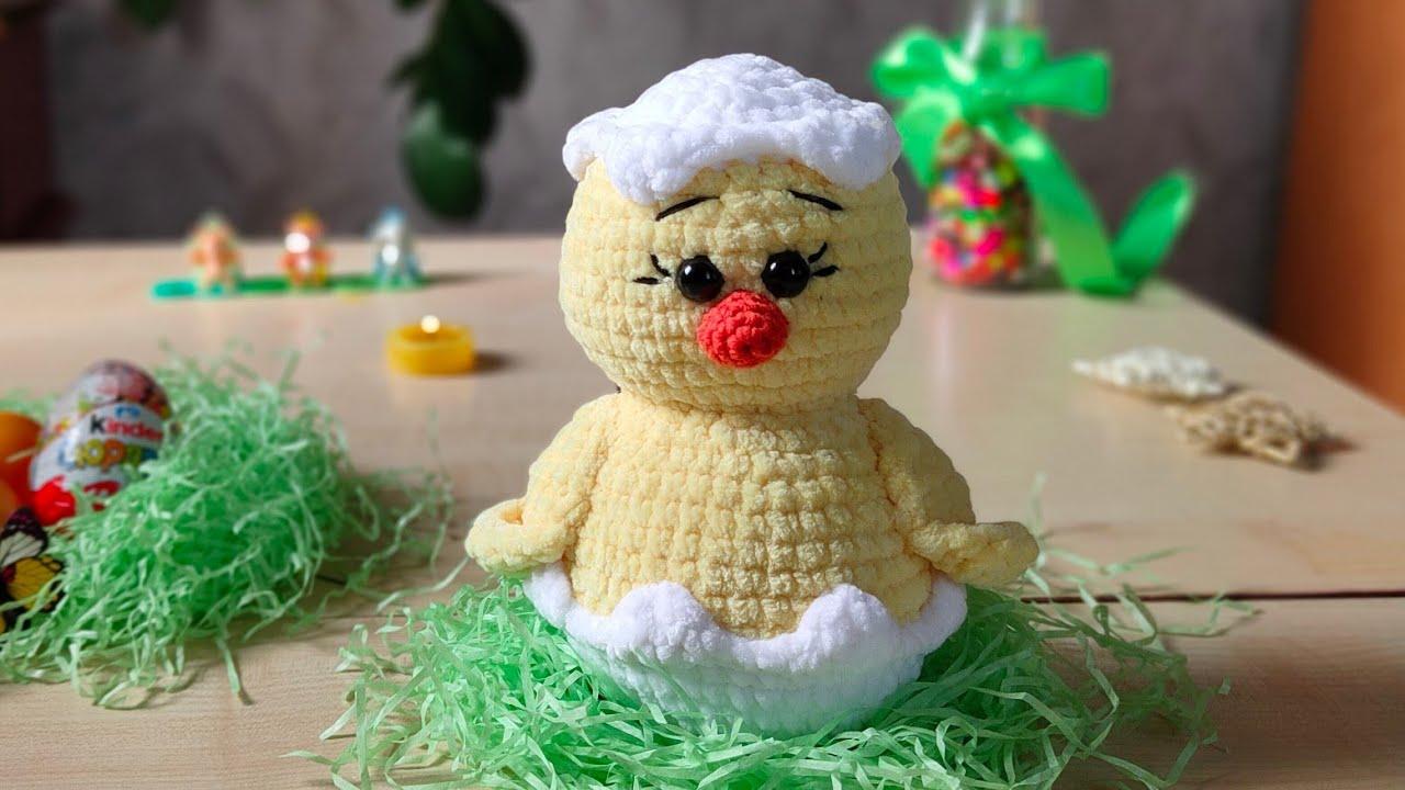 цыпленок, плюшевые игрушки, плюшевые игрушки крючком, игрушки для начинающих, пасха, пасхальный декор, пасхальный цыпленок, пасхальный кролик, вязаные игрушки, птичка, цыплёнок плюшевый крючком, вязание для начинающих, как вязать из плюшевой пряжи, himalaya dolfin bebi, игрушки из ярнарт дольче, фото, картинка, мастер-класс, мк, схема, описание, крючком, амигуруми, игрушка, фотография
