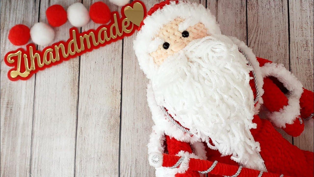 вяжем деда мороза крючком, связать дед мороза крючком, вязаный дед мороз крючком, вязальные идеи, идеи для вязания, амигуруми видео, амигуруми схемы, как связать дед мороза крючком, игрушки под ёлочку, дед мороз и снегурочка, новый год 2021, плюшевая пряжа, плюшевые игрушки крючком, кукла крючком, зефирные игрушки, схемы вязания крючком, вязальный блогер, zi handmade, фото, картинка, мастер-класс, мк, схема, описание, крючком, амигуруми, игрушка, фотография