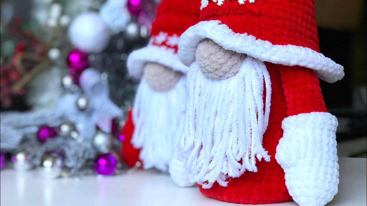 новогодний гном, гномик крючком, вязаный гном, гном своими руками, подарок на новый год, идея на новый год, вязаные игрушки, игрушки крючком, фото, картинка, мастер-класс, мк, схема, описание, крючком, амигуруми, игрушка, фотография