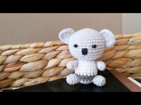 вязаная коала, мастер класс коала, как связать коалу, коала крючком, фото, картинка, мастер-класс, мк, схема, описание, крючком, амигуруми, игрушка, фотография