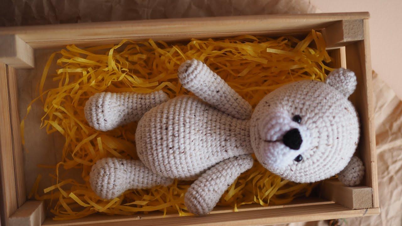 Мишка крючком, вязаный медвежонок, амигуруми, мастер класс по вязанию мишки, видео урок по вязанию игрушек, фото, картинка, мастер-класс, мк, схема, описание, крючком, амигуруми, игрушка, фотография