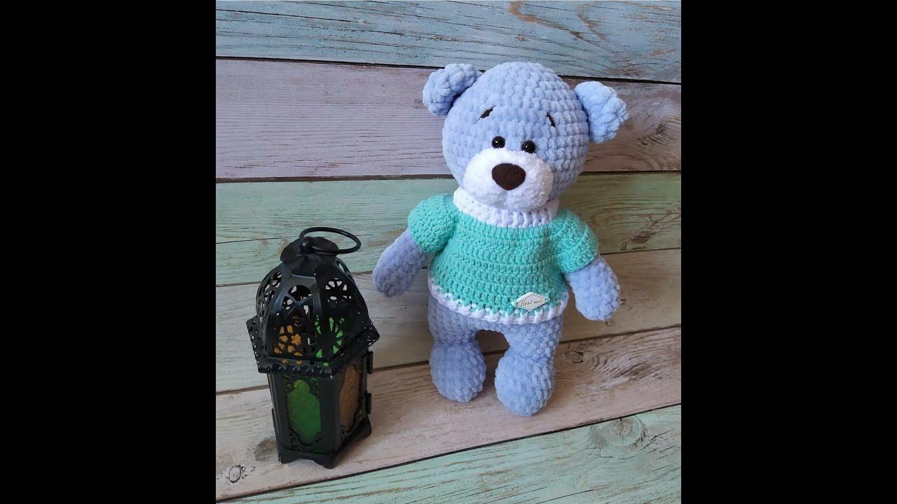 Вязаный мишка, мишка крючком, амигуруми, мастер класс по вязанию мишки, видео урок по вязанию игрушки, игрушка своими руками, фото, картинка, мастер-класс, мк, схема, описание, крючком, амигуруми, игрушка, фотография