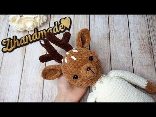 мк олень крючком, вязаный олень, как связать оленя крючком, вяжем оленя крючком, мастер-класс олень крючком, амигуруми, игрушки, новый год игрушки, амигуруми схемы, вязание, amigurumi patterns, häkeln, amigurumi toys, crochet pattern, вязальный блогер, zi handmade, фото, картинка, мастер-класс, мк, схема, описание, крючком, амигуруми, игрушка, фотография