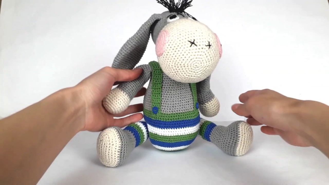 ослик, вязаный ослик, вязаный ослик крючком, ослик крючком, ослик крючком мастер класс, ослик крючком мк, ослик крючком описание, игрушки крючком, вязание для начинающих, вязаные игрушки, crochet toys, crochet toys amigurumi, crochet donkey, crochet donkey pattern, фото, картинка, мастер-класс, мк, схема, описание, крючком, амигуруми, игрушка, фотография