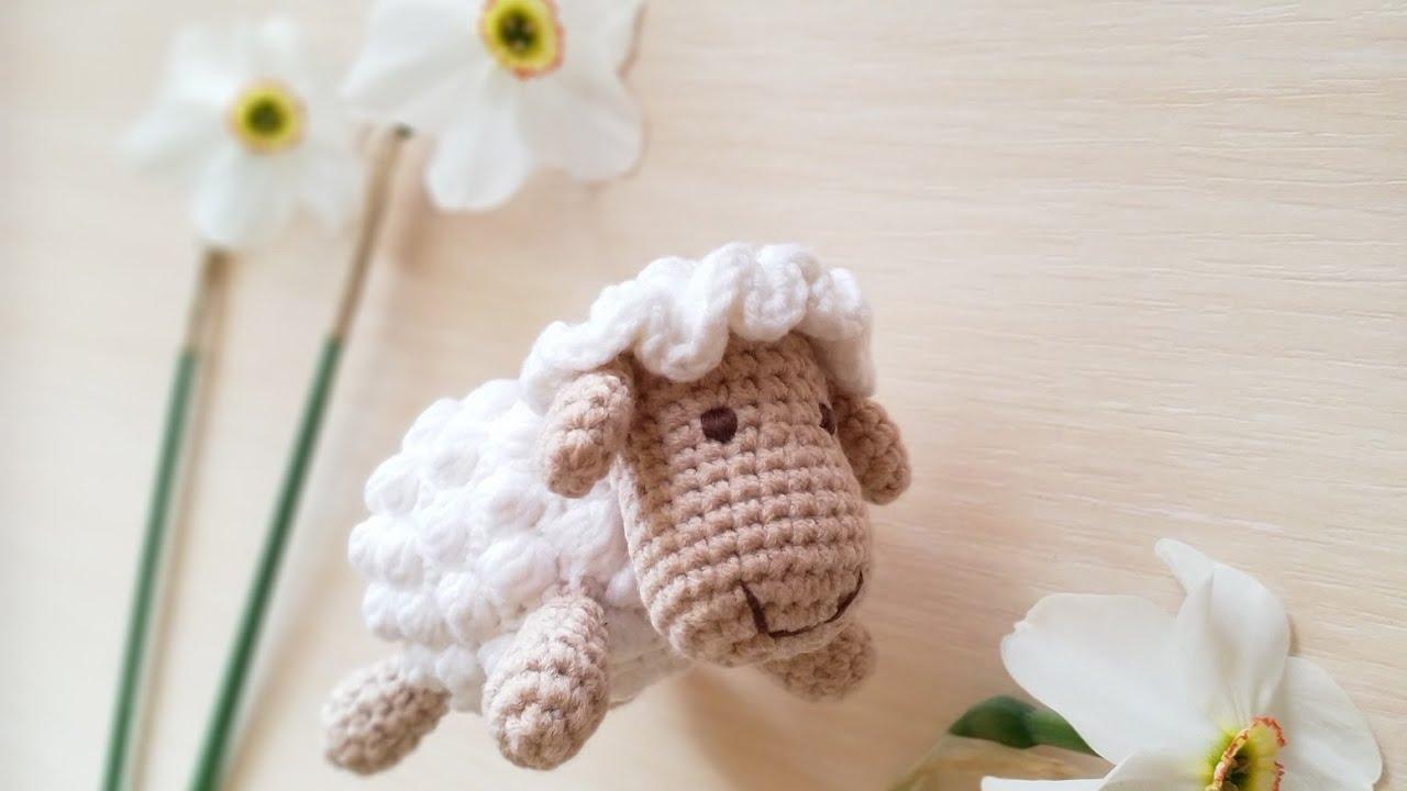 вязаная овечка, овечка крючком, как связать овечку, фото, картинка, мастер-класс, мк, схема, описание, крючком, амигуруми, игрушка, фотография