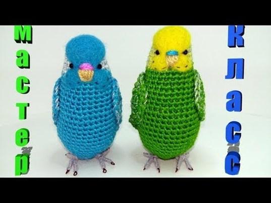 попугайчик, волнистый попугайчик, неразлучники, попугай, птичка, крючком, мастер-класс, мк, вязание, валяние, своими руками, игрушка, для детей, для дома, пряжа ирис, евгения каландина, parrot, bird, knitting, crochet, master class, hand made, фото, картинка, мастер-класс, мк, схема, описание, крючком, амигуруми, игрушка, фотография