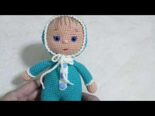 Пупс крючком, вязаный пупсик, амигуруми, мастер класс по вязанию куклы, видео урок по вязанию куколки, фото, картинка, мастер-класс, мк, схема, описание, крючком, амигуруми, игрушка, фотография