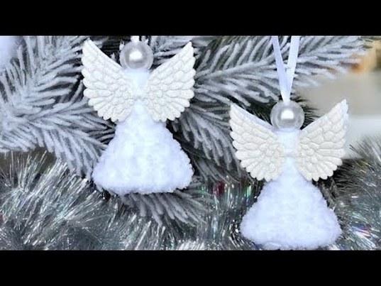 ангел на елку, рождественский ангел, ангел крючком, вязаные игрушки, игрушки крючком, новогодняя игрушка крючком, новогодний ангел, вязаный ангел, фото, картинка, мастер-класс, мк, схема, описание, крючком, амигуруми, игрушка, фотография
