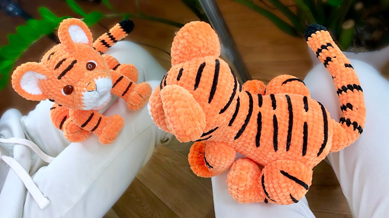 тигр крючком, вязаный тигр, тигр мастер класс, игрушки крючком мк, игрушки крючком, фото, картинка, мастер-класс, мк, схема, описание, крючком, амигуруми, игрушка, фотография