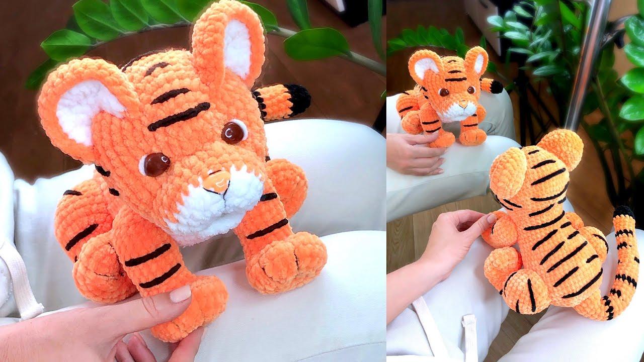 тигренок, тигр крючком, вязаный тигр мастер класс, вязаный тигр, вязаные игрушки, фото, картинка, мастер-класс, мк, схема, описание, крючком, амигуруми, игрушка, фотография