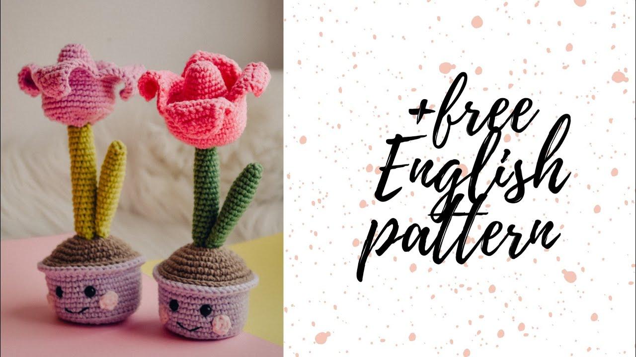 мастер-класс тюльпан крючком, мк вязаный тюльпан, цветок крючком, цветок в горшочке крючком, подарок к 8 марта своими руками, амигуруми мк, вязаная игрушка мк, crochet flower tulip pattern, easy crochet pattern, amigurumi pattern flower tulip, free english pattern, crochet toy pattern, фото, картинка, мастер-класс, мк, схема, описание, крючком, амигуруми, игрушка, фотография