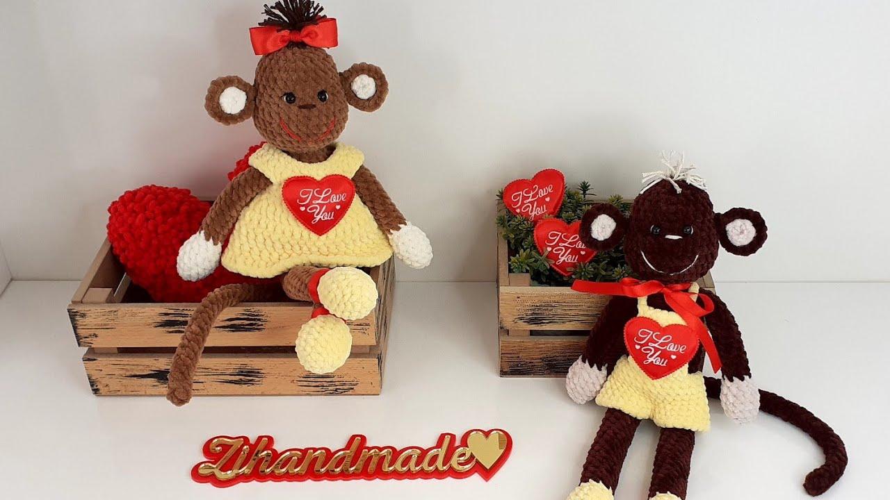 обезьянка крючком, мк обезьянка крючком, игрушки крючком, амигуруми схемы, как связать обезьянку крючком, вяжем обезьяну крючком, вязание, вязаная обезьянка крючком, вязаные игрушки крючком, фото игрушки, рукоделие, валентинка крючком, день влюблённых, день святого валентина, вязальный блогер, zi handmade, фото, картинка, мастер-класс, мк, схема, описание, крючком, амигуруми, игрушка, фотография