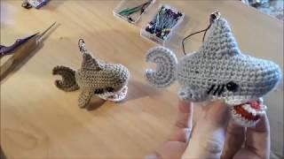 Акула крючком. Видео мастер-класс, схема и описание по вязанию игрушки амигуруми
