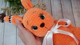 Белочка Нисса крючком. Видео мастер-класс, схема и описание по вязанию игрушки амигуруми