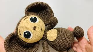 Чебурашка крючком. Видео мастер-класс, схема и описание по вязанию игрушки амигуруми