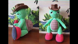 Черепаха  Отто крючком. Видео мастер-класс, схема и описание по вязанию игрушки амигуруми