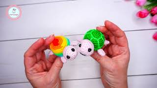 Черепаха крючком. Видео мастер-класс, схема и описание по вязанию игрушки амигуруми
