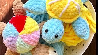 Черепашка крючком. Видео мастер-класс, схема и описание по вязанию игрушки амигуруми