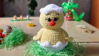 Цыплёнок крючком. Видео мастер-класс, схема и описание по вязанию игрушки амигуруми