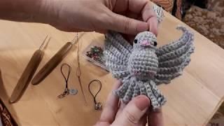 Голубка крючком. Видео мастер-класс, схема и описание по вязанию игрушки амигуруми