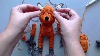 Хитрый Лис крючком. Видео мастер-класс, схема и описание по вязанию игрушки амигуруми