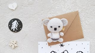 Коала крючком. Видео мастер-класс, схема и описание по вязанию игрушки амигуруми