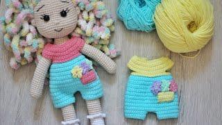 Комбинезон для куклы крючком. Видео мастер-класс, схема и описание по вязанию игрушки амигуруми