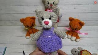Кошечка крючком. Видео мастер-класс, схема и описание по вязанию игрушки амигуруми