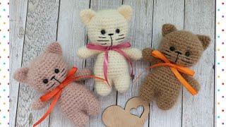 Котёнок крючком. Видео мастер-класс, схема и описание по вязанию игрушки амигуруми