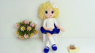 Кукла Лоя крючком. Видео мастер-класс, схема и описание по вязанию игрушки амигуруми