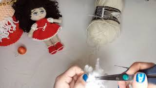 Куколка Алёнка крючком. Видео мастер-класс, схема и описание по вязанию игрушки амигуруми