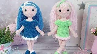 Куколка Асэна крючком. Видео мастер-класс, схема и описание по вязанию игрушки амигуруми