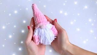 Маленький гномик крючком. Видео мастер-класс, схема и описание по вязанию игрушки амигуруми