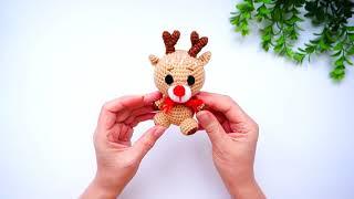 Маленький оленёнок крючком. Видео мастер-класс, схема и описание по вязанию игрушки амигуруми