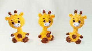 Маленький жираф крючком. Видео мастер-класс, схема и описание по вязанию игрушки амигуруми