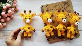 Малыш Жирафик крючком. Видео мастер-класс, схема и описание по вязанию игрушки амигуруми