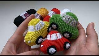 Машинка крючком. Видео мастер-класс, схема и описание по вязанию игрушки амигуруми