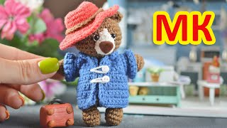 Медвежонок Паддингтон крючком. Видео мастер-класс, схема и описание по вязанию игрушки амигуруми