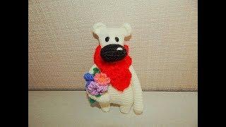Медвежонок Умка крючком. Видео мастер-класс, схема и описание по вязанию игрушки амигуруми