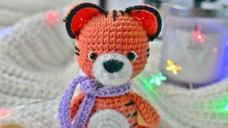 Милейший тигренок крючком. Видео мастер-класс, схема и описание по вязанию игрушки амигуруми