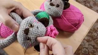 Мимимишки Енотики Соня и Саня крючком. Видео мастер-класс, схема и описание по вязанию игрушки амигуруми