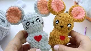 МимиМышка крючком. Видео мастер-класс, схема и описание по вязанию игрушки амигуруми