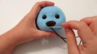 Мишка с розочкой крючком. Видео мастер-класс, схема и описание по вязанию игрушки амигуруми
