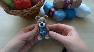 Мишка в штанишках крючком. Видео мастер-класс, схема и описание по вязанию игрушки амигуруми
