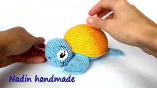 Морская черепашка крючком. Видео мастер-класс, схема и описание по вязанию игрушки амигуруми