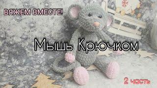 Мышь крючком. Видео мастер-класс, схема и описание по вязанию игрушки амигуруми
