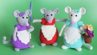 "Мышка ""Норушка"" крючком. Видео мастер-класс, схема и описание по вязанию игрушки амигуруми"