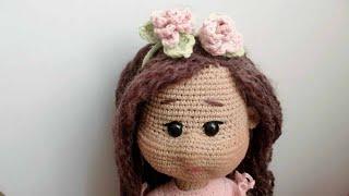 Ободок для куклы крючком. Видео мастер-класс, схема и описание по вязанию игрушки амигуруми