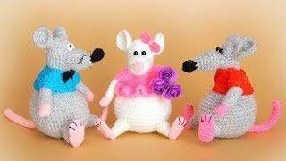 Одежда для Крысок крючком. Видео мастер-класс, схема и описание по вязанию игрушки амигуруми